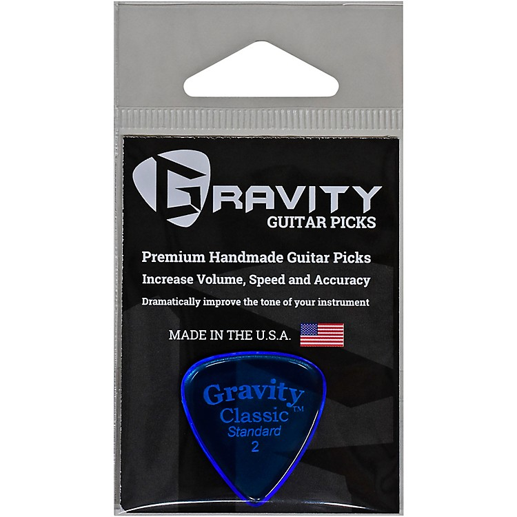 GRAVITY PICKS Classic Standard Polished Blue 2.0 mm