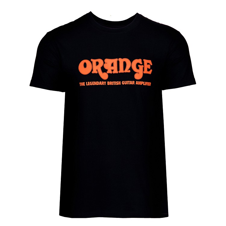 Orange Amplifiers Classic T-Shirt Black Medium