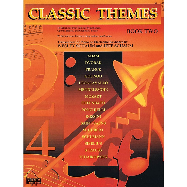 SCHAUMClassic Themes, Bk 2 Educational Piano Series Softcover