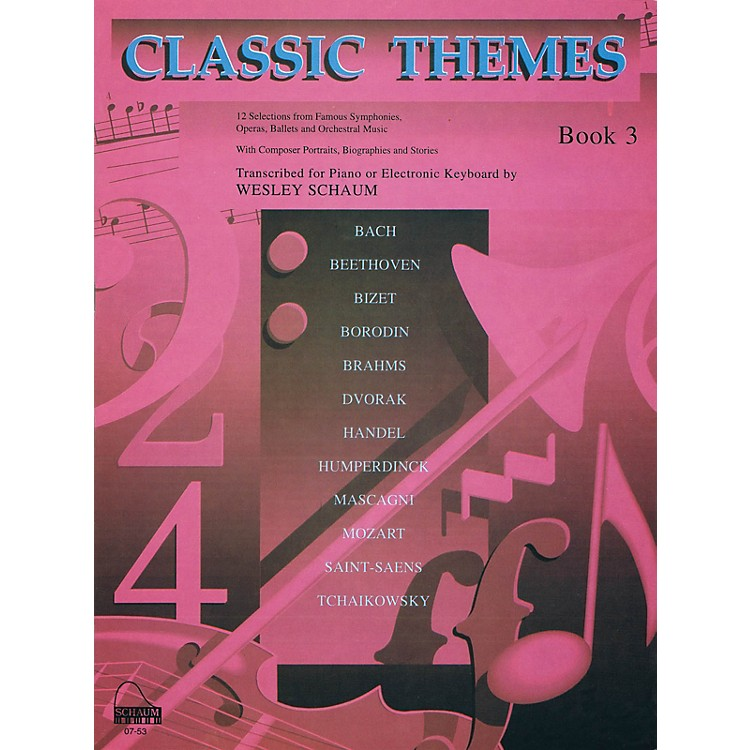 SCHAUMClassic Themes, Bk 3 Educational Piano Series Softcover