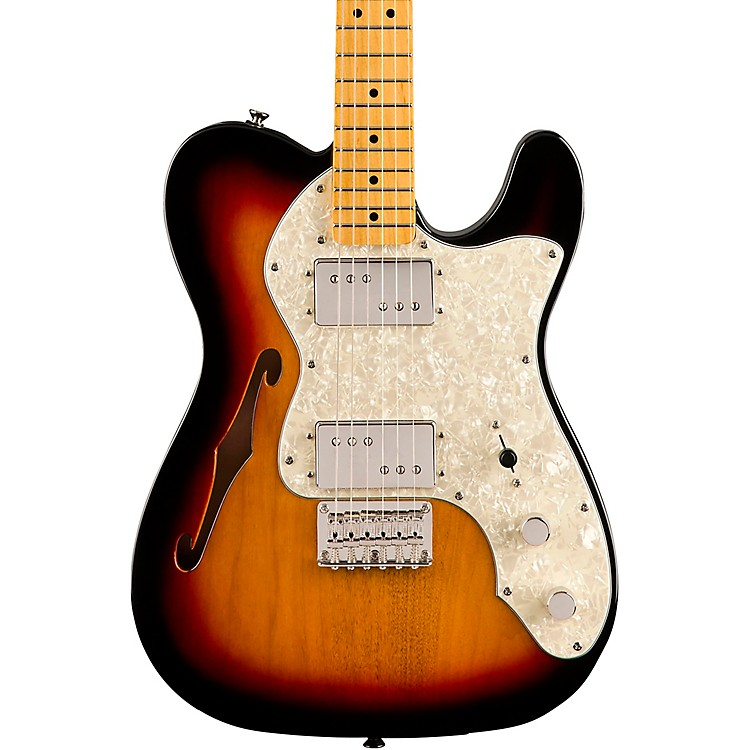 Squier Classic Vibe '70s Telecaster Thinline Maple Fingerboard Electric Guitar 3-Color Sunburst