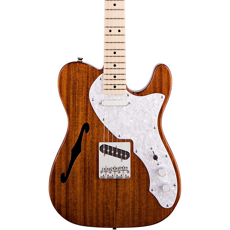 squier classic vibe telecaster thinline electric guitar natural music123. Black Bedroom Furniture Sets. Home Design Ideas