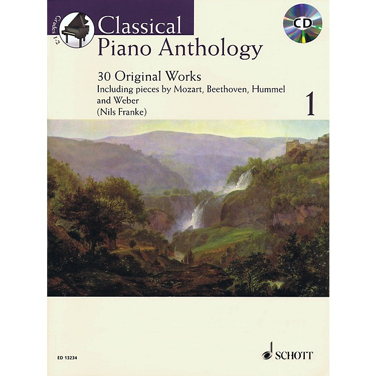 SchottClassical Piano Anthology, Vol. 1 (30 Original Works) Schott Series Softcover with CD by Nils Franke