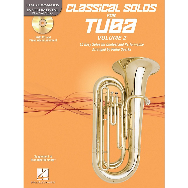 Hal LeonardClassical Solos for Tuba (B.C.), Vol. 2 Instrumental Folio Series Softcover with CD