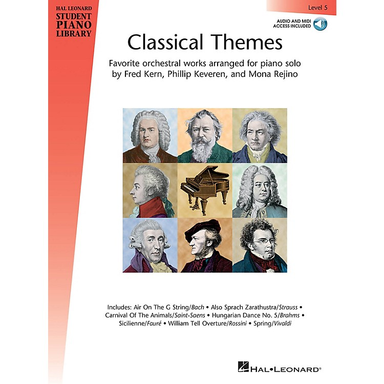 Hal LeonardClassical Themes - Level 5 Piano Library Series Book Audio Online