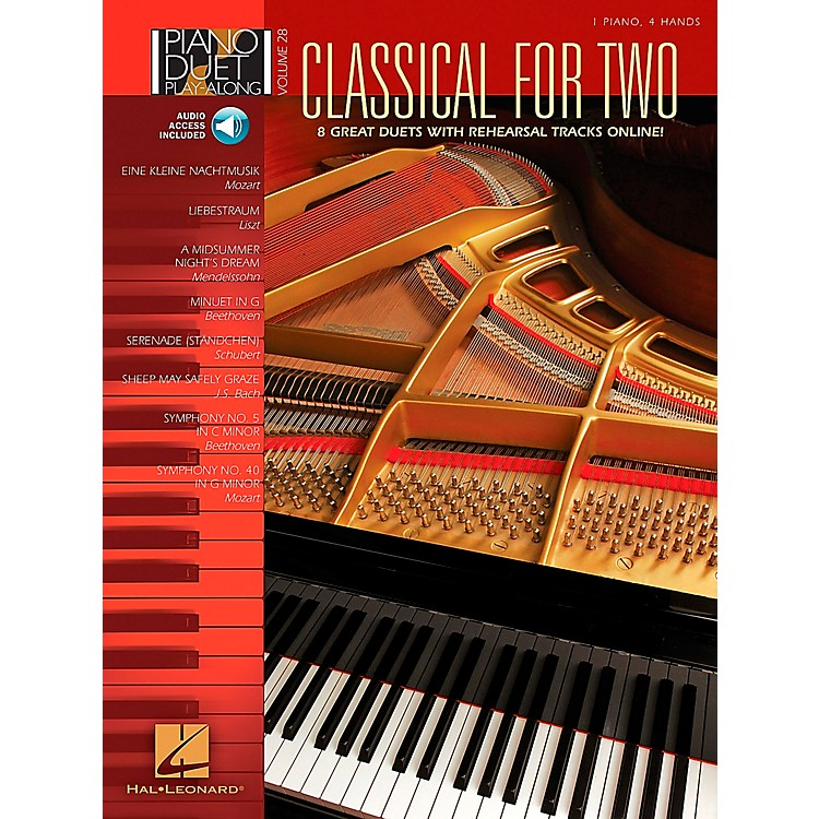 Hal LeonardClassical for Two Piano Duet Play-Along Volume 28 Book/CD