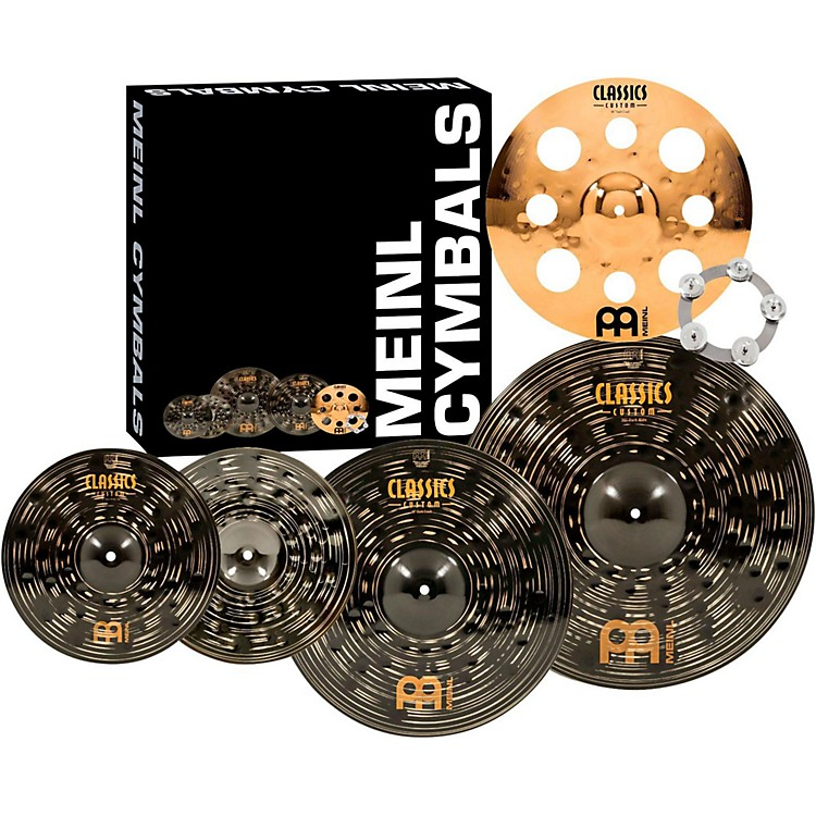 MeinlClassics Custom Dark Set Cymbal Pack with Free Trash Crash and Ching Ring14, 16, 18 and 20 in.