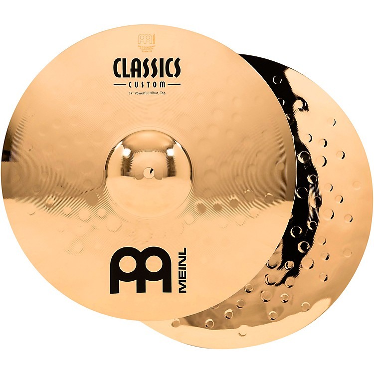 Meinl Classics Custom Powerful Hi-Hats - Brilliant 14 in.