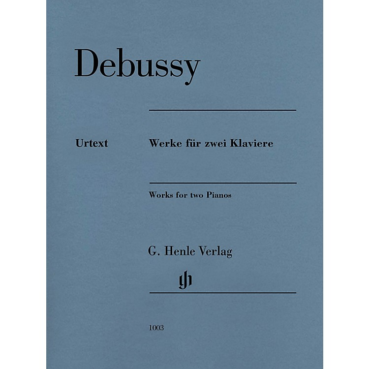 G. Henle Verlag Claude Debussy - Works for Two Pianos Henle Music Folios Softcover by Debussy Edited by Heinemann