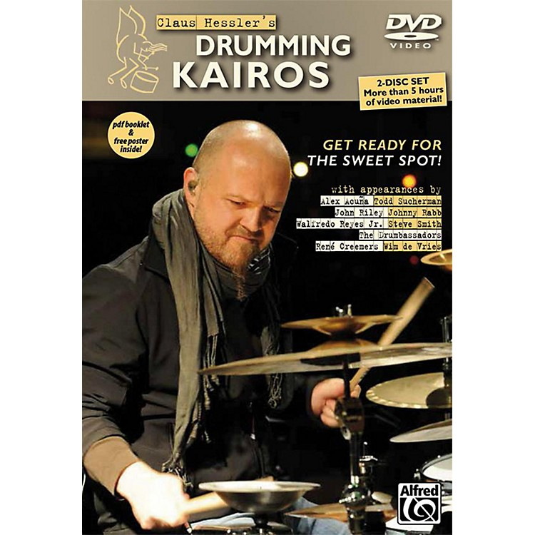 AlfredClaus Hessler's Drumming Kairos 2 DVDs pdf Booklet and Poster