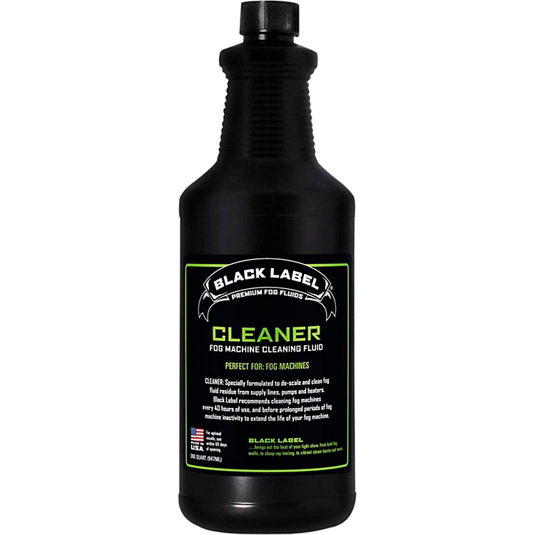 Black Label Cleaning Fluid For Fog Machines - 1 Quart