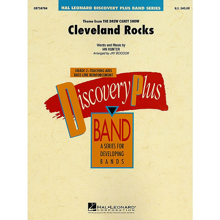 Hal Leonard Cleveland Rocks - Discovery Plus Concert Band Series Level 2 arranged by Jay Bocook