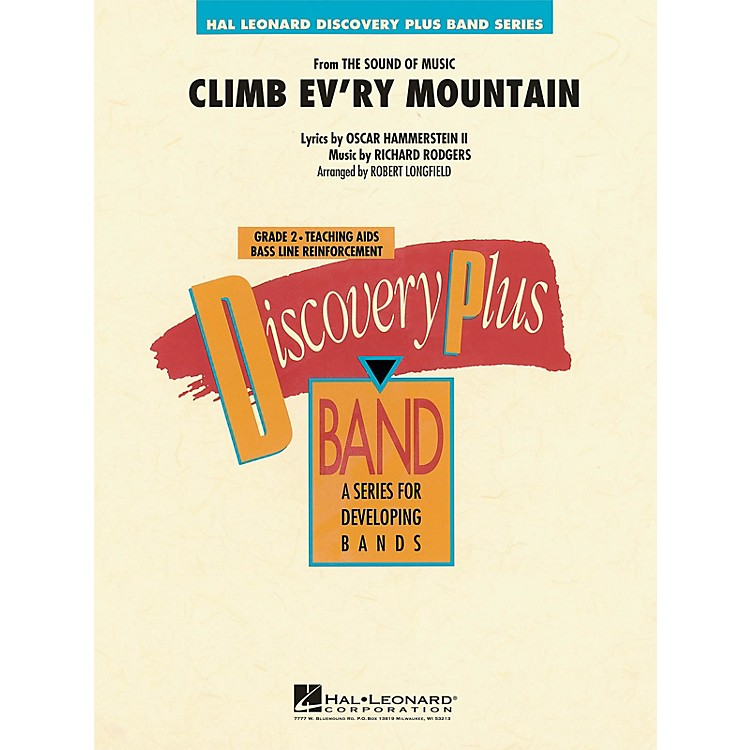 Hal Leonard Climb Ev'ry Mountain (from The Sound of Music) - Discovery Plus Band Series Level 2 arranged by Longfield