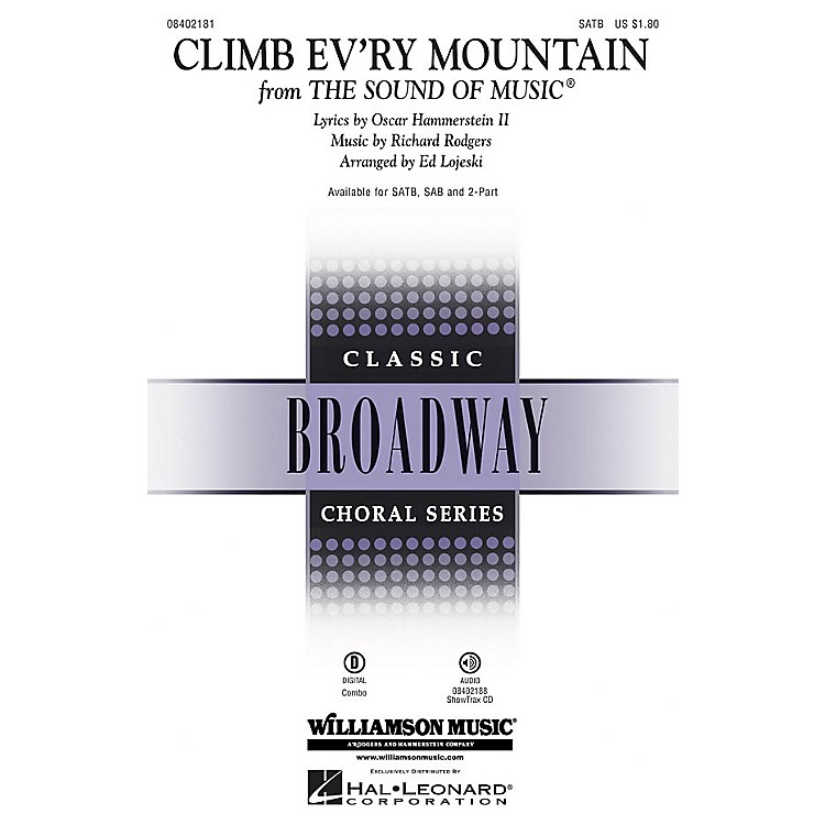 Hal LeonardClimb Ev'ry Mountain (from The Sound of Music) ShowTrax CD Arranged by Ed Lojeski