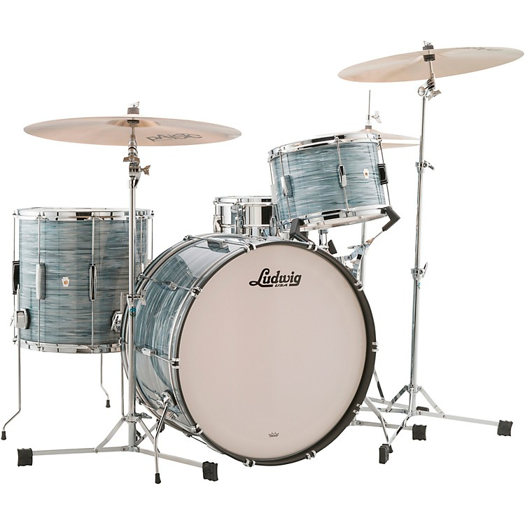LudwigClub Date 3-Piece Pro Beat Shell Pack with 24 in. Bass DrumVintage Blue Oyster