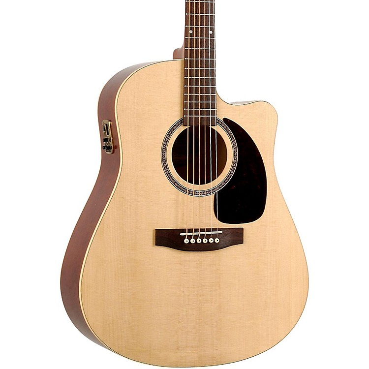 Seagull Coastline Series Slim Cutaway Dreadnought QI Acoustic-Electric Guitar Natural