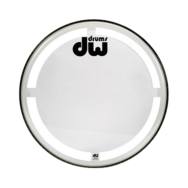 DW Coated Clear Bass Drum Head 24 in.