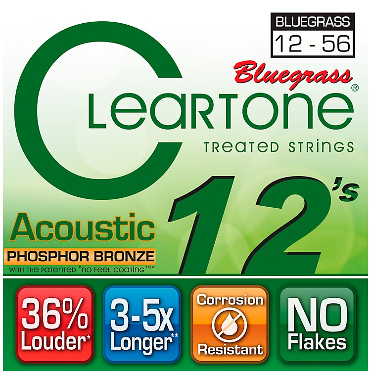 CleartoneCoated Phosphor-Bronze Bluegrass Acoustic Guitar Strings