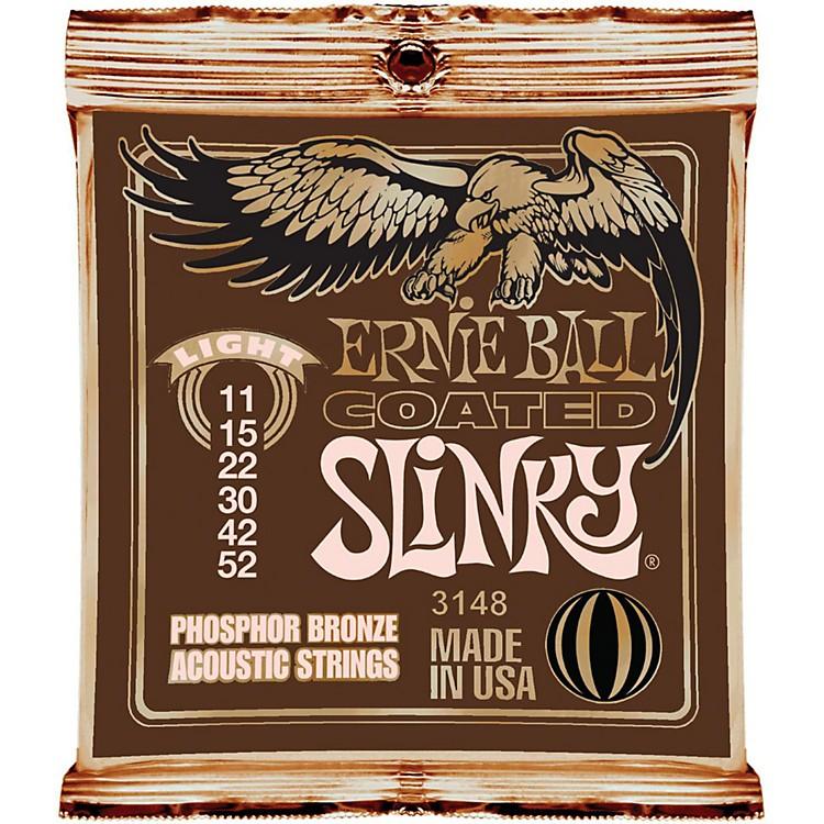 Ernie BallCoated Slinky Phosphor Bronze Acoustic Strings Light