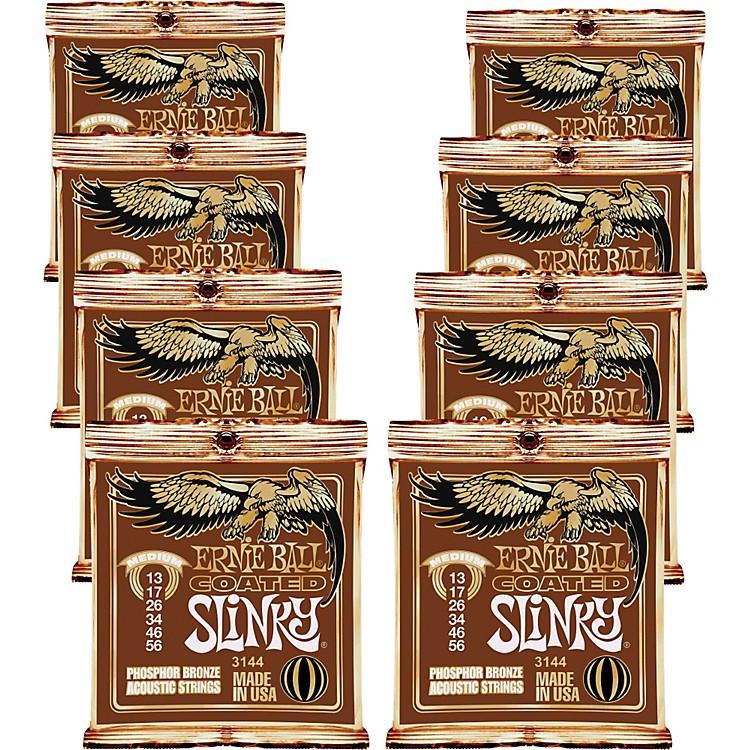 Ernie BallCoated Slinky Phosphor Bronze Acoustic Strings Medium - 8 Pack