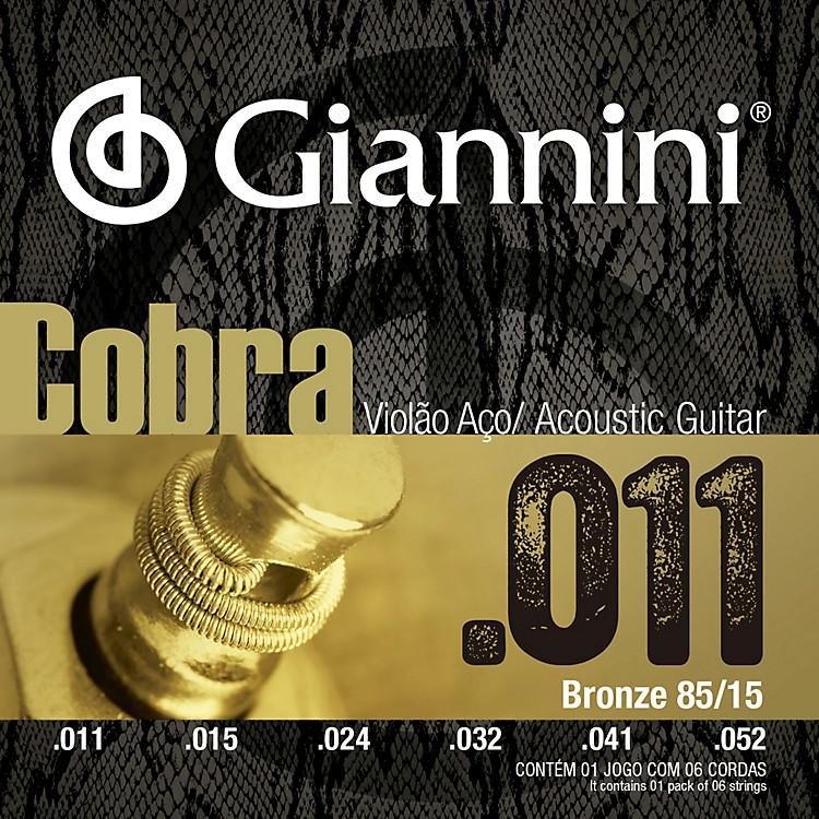 GianniniCobra Series GEEFLK 85/15 Bronze Light .11-.52 Acoustic Guitar Strings
