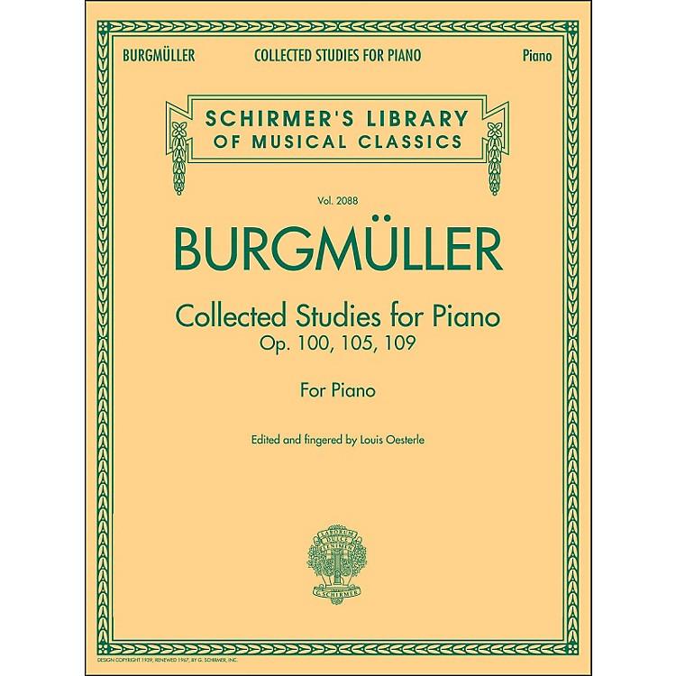 G. SchirmerCollected Studies for Piano - Op. 100 105 109 By Burgmuller