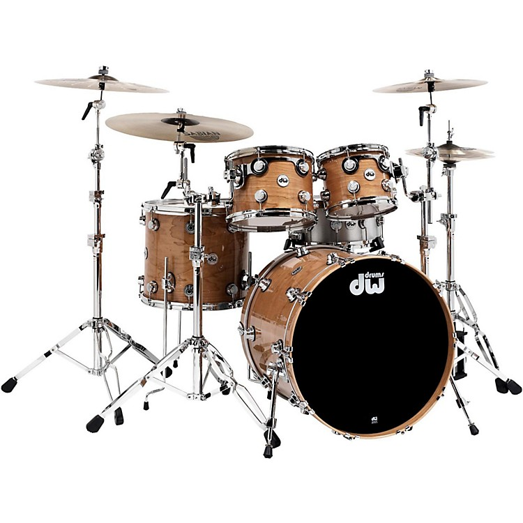 DWCollector's Cherry 4-Piece Lacquer Custom Shell PackNatural With Chrome Hardware