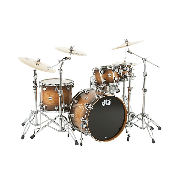 DWCollector's Cherry Lacquer Specialty 4-Piece Shell PackAll Cherry Natural to Candy Black BurstChrome Hardware