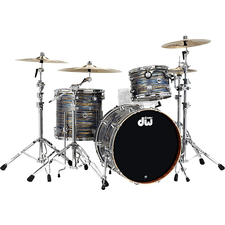DWCollector's Series 3-Piece Maple/Mahogany Finish Ply Shell Pack with Chrome HardwarePeacock Oyster