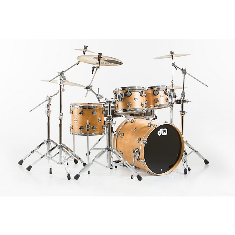 DWCollector's Series 4-Piece Satin Oil Natural Birch Shell Pack with Chrome Hardware
