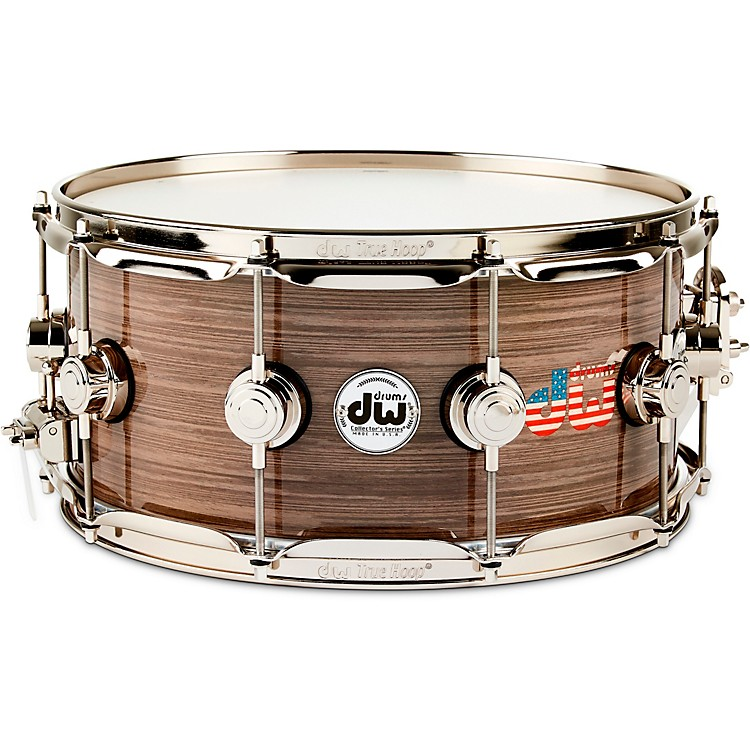 DWCollector's Series American Flag Logo Snare Drum with Nickel Hardware14 x 6.5 in.
