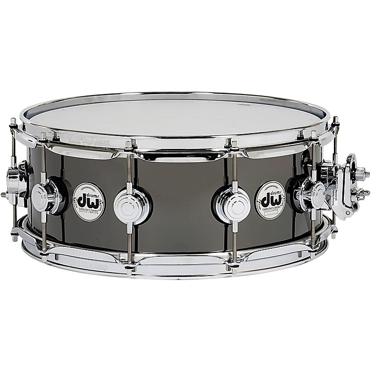 DWCollector's Series Black Nickel Over Brass Metal Snare Drum14 x 5.5 in.Black Nickel Over Brass with Chrome Hardware
