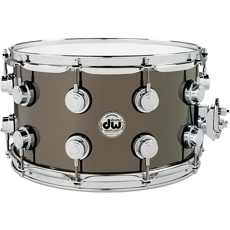 DW Collector's Series Black Nickel Over Brass Metal Snare Drum 14 x 8 in. Black Nickel Over Brass with Chrome Hardware