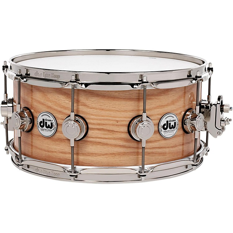DW Collector's Series Lacquer Custom Oak Snare Drum 14x6.5 In. Natural Hard Satin