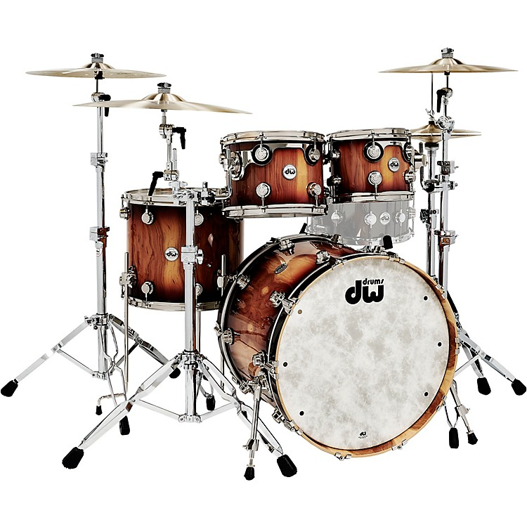 DWCollector's Series Pure Almond 4-Piece Shell Pack with Nickel Hardware, Toasted Almond Burst
