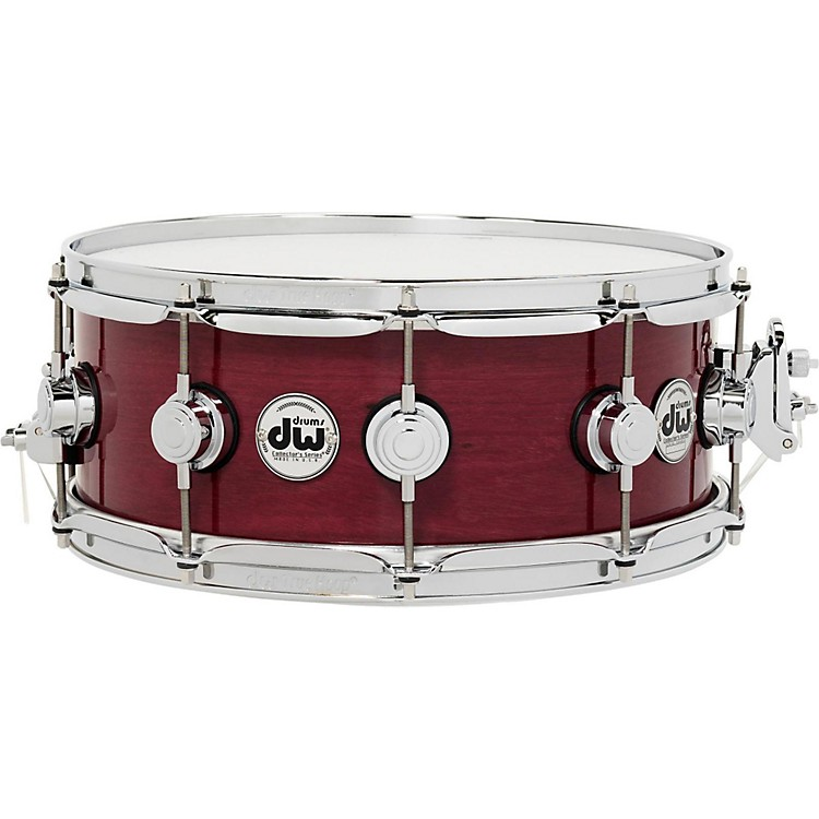 DW Collector's Series Purple Heart Lacquer Custom Snare Drum with Chrome Hardware 14 x 5.5 in.