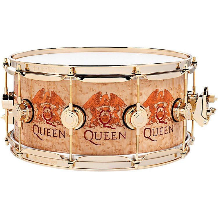 DWCollector's Series Queen Icon Snare14 x 6.5 in.Gold Hardware