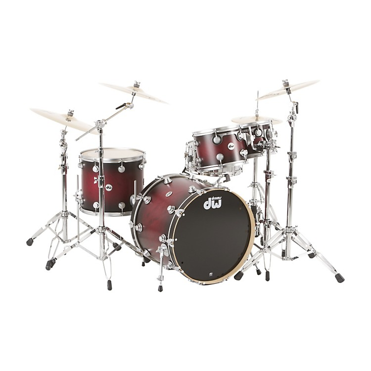 DWCollector's Series Satin Specialty 4-Piece Shell PackTwisted Cherry to Black BurstSatin Chrome Hardware