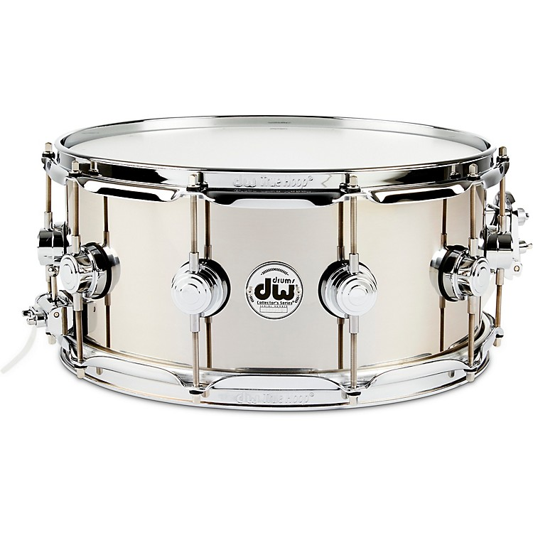DW Collector's Series Stainless Steel Snare Drum with Chrome Hardware 14 x 6.5 in. Polished