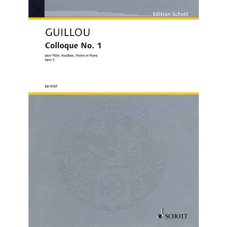 SchottColloque No. 1, Op. 2 (Score and Parts) Schott Series Softcover Composed by Jean Guillou