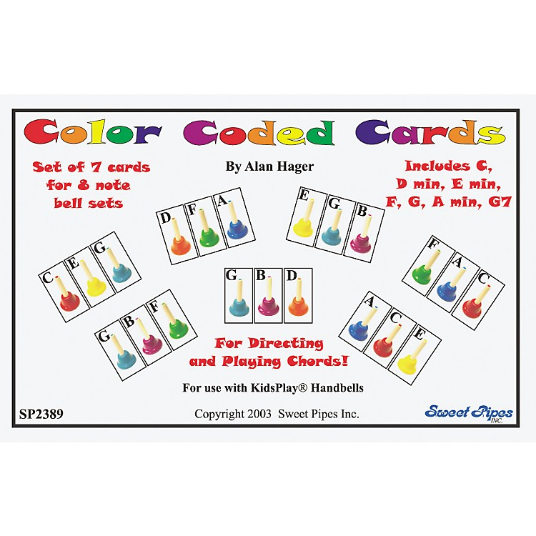 Rhythm Band Color-Coded Handbell Cards/7 Chords