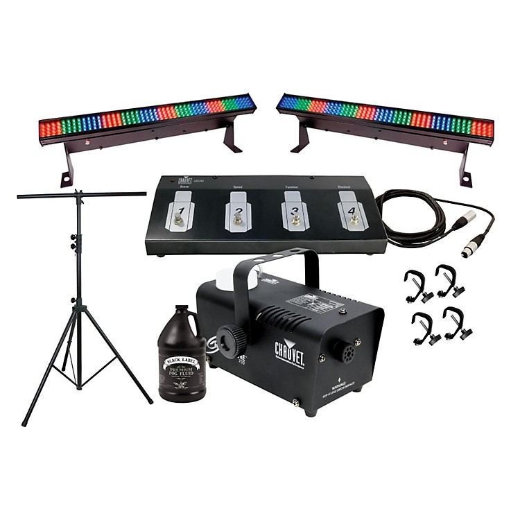 CHAUVET DJ Color Strip Mini and Fog Machine System