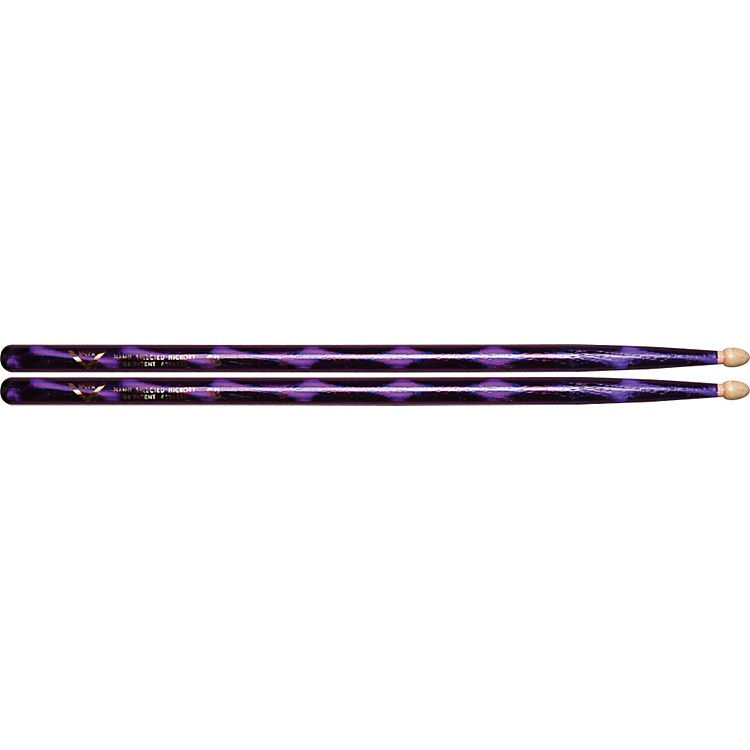 Vater Color Wrap Wood Tip Sticks - Pair 5B Purple Optic