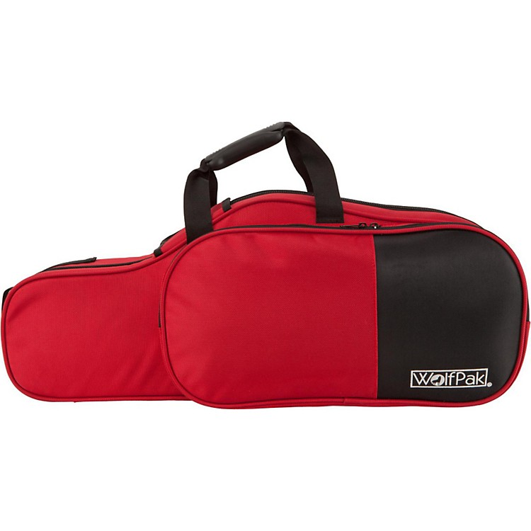WolfPak Colors Series Lightweight Polyfoam Alto Saxophone Case Red