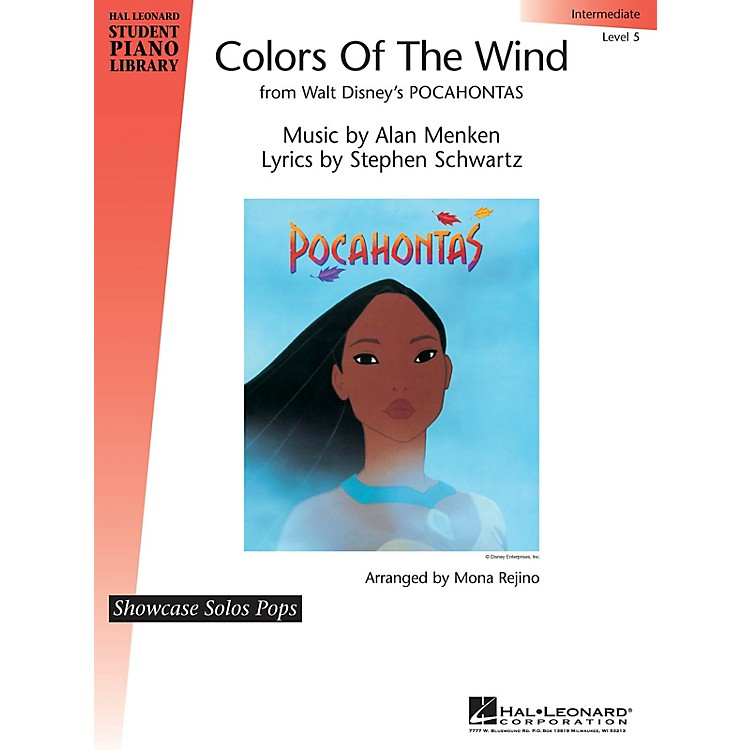 Hal LeonardColors of the Wind Piano Library Series by Alan Menken (Level Inter)