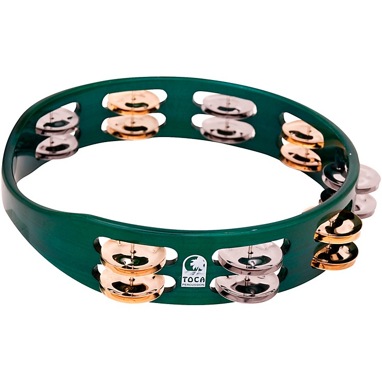 Toca Colorsound Tambourine 10 in. Green