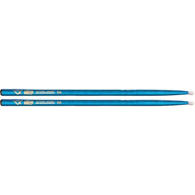 VaterColorwrap Nylon Tip Sticks - PairBlue Sparkle5A