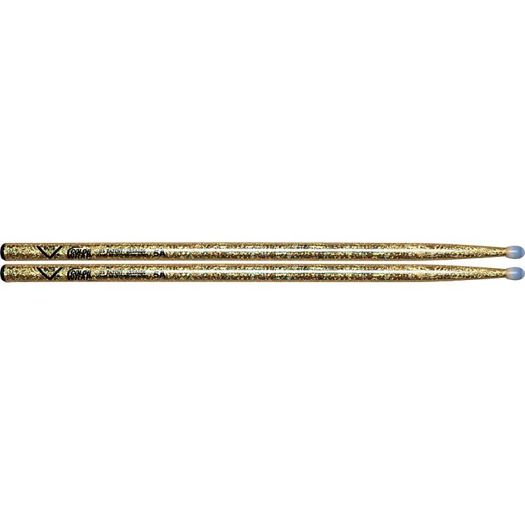 VaterColorwrap Nylon Tip Sticks - PairGold Sparkle5A