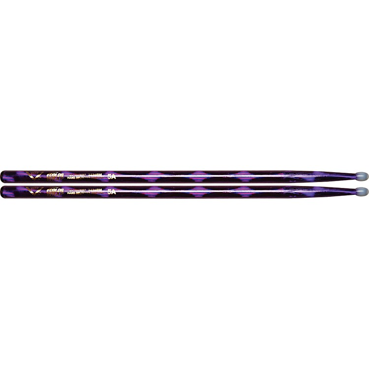 Vater Colorwrap Nylon Tip Sticks - Pair Purple Optic 5A