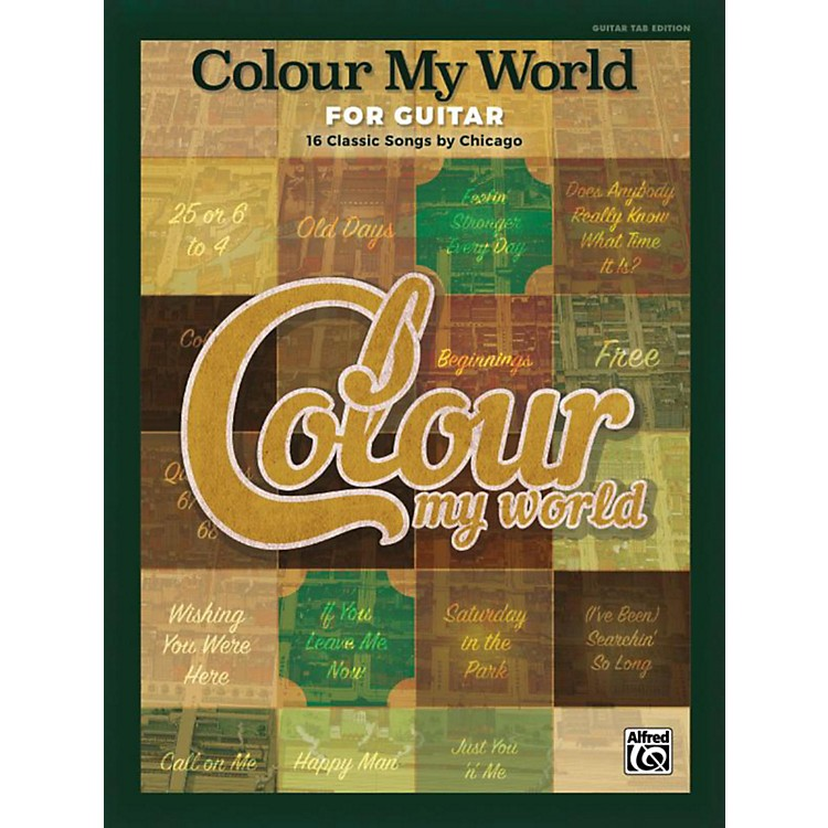 Alfred Colour My World for Guitar - Guitar TAB Edition Songbook